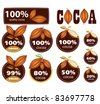 Percent Cocoa Seal / Mark / Icon. - stock photo