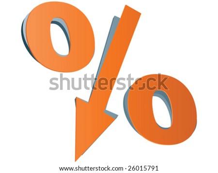 Percent icon vector illustration - stock vector