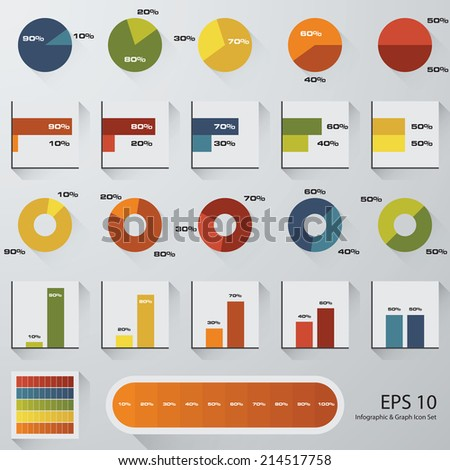 percentage graph icon set stock vector royalty free 214517758