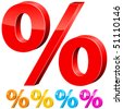 percentage signs - vector illustration - stock photo