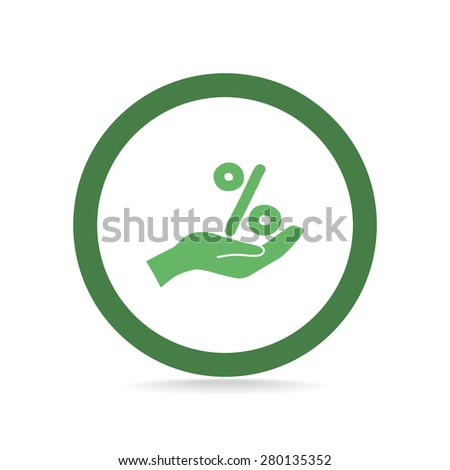 percentage, web icon. vector design - stock vector