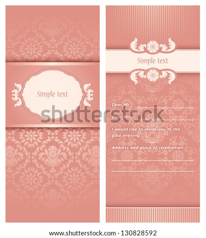 Perfect as invitation or announcement. For example a wedding. Vector illustration 10eps - stock vector