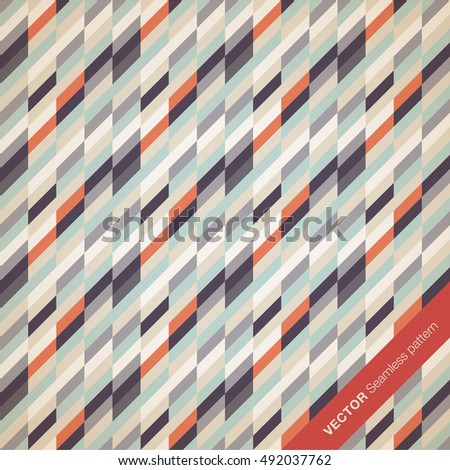Perfect seamless geometric pattern. Brochure cover template