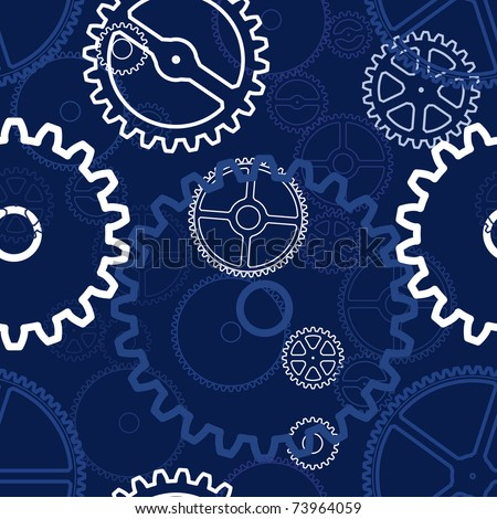 perfect seamless pattern with gears - stock vector