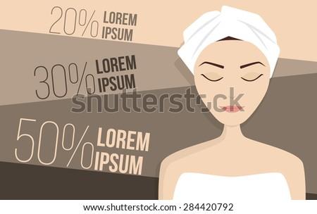 Perfect skin treatment illustration, beauty vector - stock vector