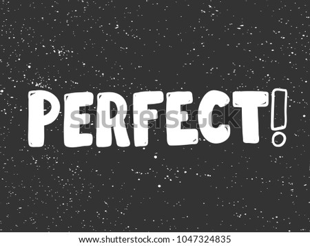 Perfect typography lettering calligraphy doodle cartoon stock