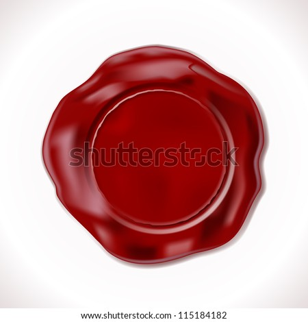 Perfect Wax Seal Isolated on white. Vector Illustration - stock vector