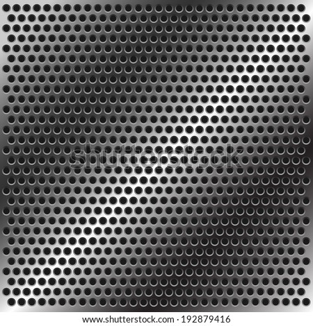perforated metal vector background - stock vector