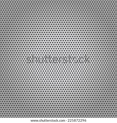 Perforated Plate Texture Metal Background - stock vector