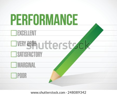 performance check list illustration design over a white background - stock vector