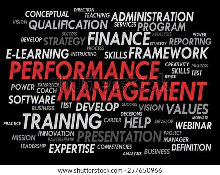 Performance Management word cloud, business concept - stock vector