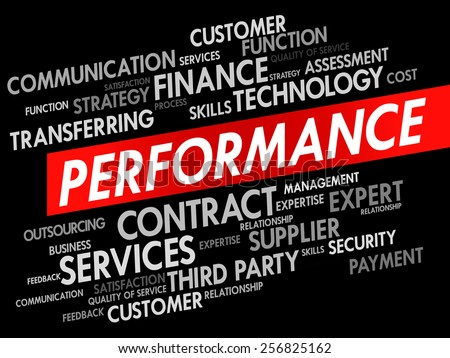 PERFORMANCE word cloud, business concept - stock vector