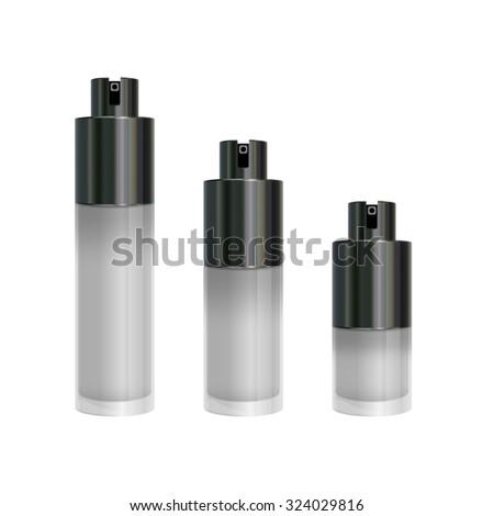 perfume bottles - stock vector