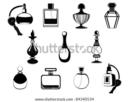 Perfume bottles vector - stock vector
