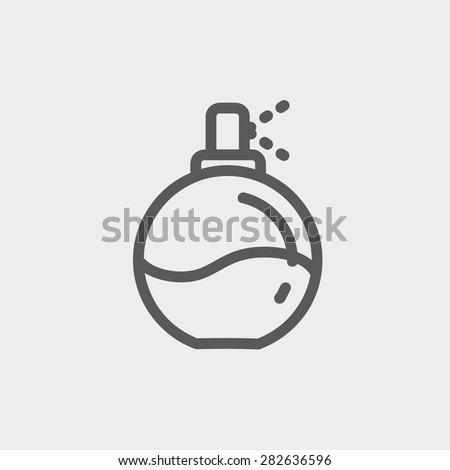 Perfume icon thin line for web and mobile, modern minimalistic flat design. Vector dark grey icon on light grey background. - stock vector