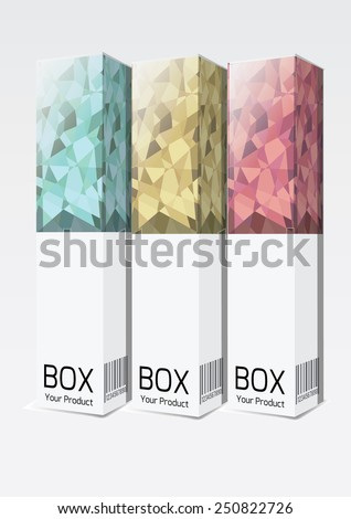 perfume package box mock-up. Vector illustration. - stock vector
