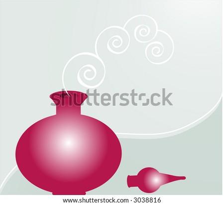 perfume vector - stock vector
