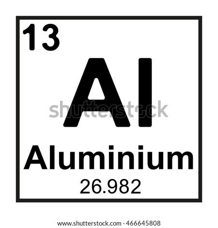 Periodic table element aluminium stock vector 466645808 shutterstock periodic table element aluminium urtaz Choice Image