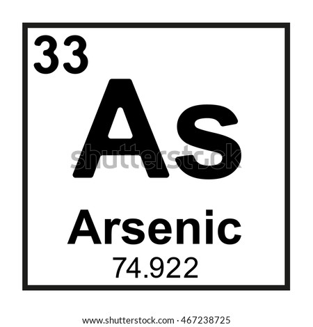 Periodic Table Element Arsenic Stock Vector 467238725 ...