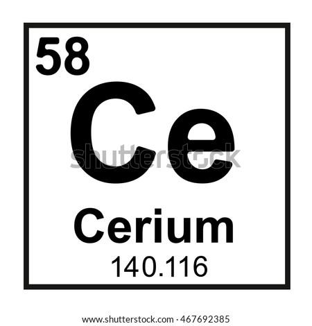 Periodic table element cerium stock vector royalty free 467692385 periodic table element cerium urtaz Images