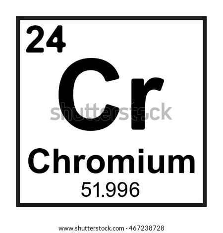 Periodic Table Element Chromium Stock Photo Photo Vector