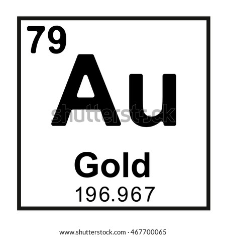 Periodic table element gold stock vector 467700065 shutterstock periodic table element gold urtaz Image collections