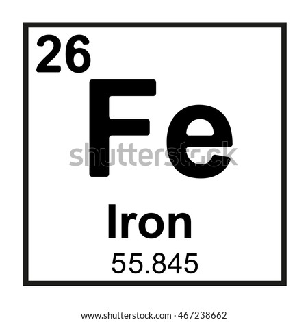 Iron element symbol clipart library periodic table element iron stock vector 467238662 shutterstock rh shutterstock com element symbol for iron iron oxide element symbol urtaz Gallery