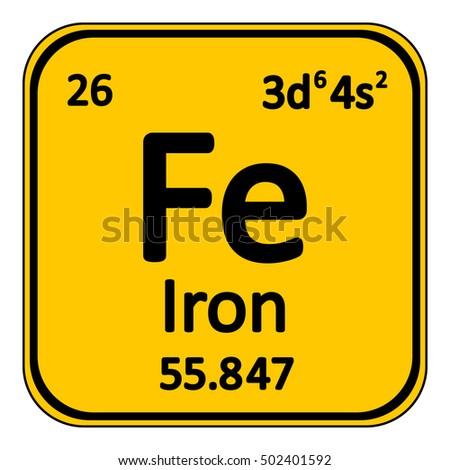 Periodic table element iron icon on stock vector 502401592 periodic table element iron icon on white background vector illustration urtaz Images