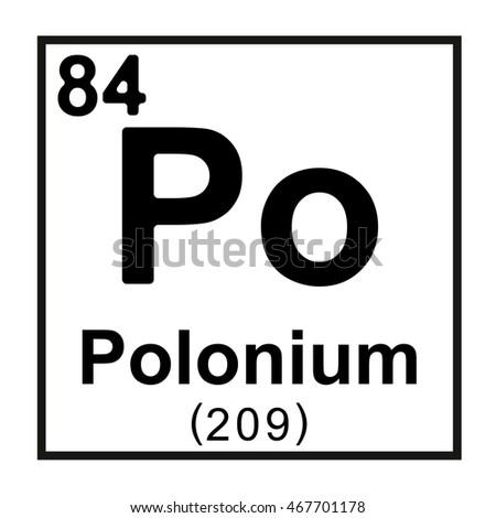 Periodic table element polonium stock vector 467701178 shutterstock periodic table element polonium urtaz Choice Image