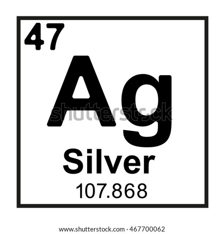 Periodic table element silver stock vector 2018 467700062 periodic table element silver urtaz Image collections