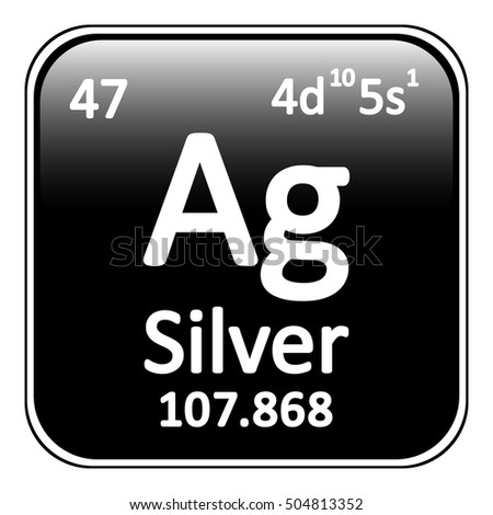 Periodic table element silver icon on stock vector 496407913 periodic table element silver icon on white background vector illustration urtaz Images