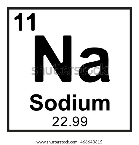 Periodic table element sodium stock vector royalty free 466643615 periodic table element sodium urtaz Image collections