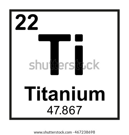 Beautiful Periodic Table Element Titanium