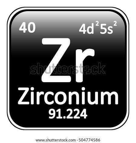 Periodic table element zirconium icon on stock vector 495720928 periodic table element zirconium icon on white background vector illustration urtaz Gallery