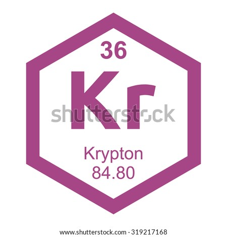 Periodic table krypton element stock vector 319217168 shutterstock periodic table krypton element urtaz