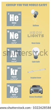 Noble gases stock images royalty free images vectors shutterstock periodic table of element group viii the noble gases urtaz Gallery
