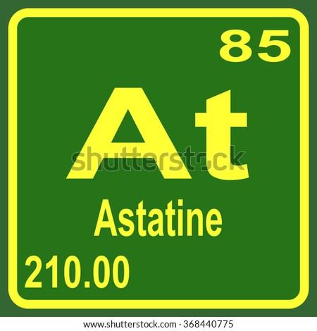 Periodic table elements astatine stock vector 368440775 shutterstock periodic table of elements astatine urtaz Gallery