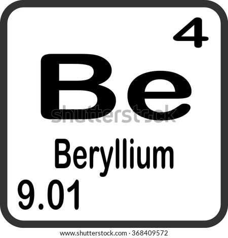 Periodic table elements beryllium stock vector 368409572 shutterstock periodic table of elements beryllium urtaz Image collections