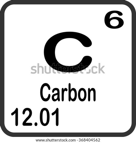 Periodic Table Elements Carbon Stock Vector 368404562 Shutterstock