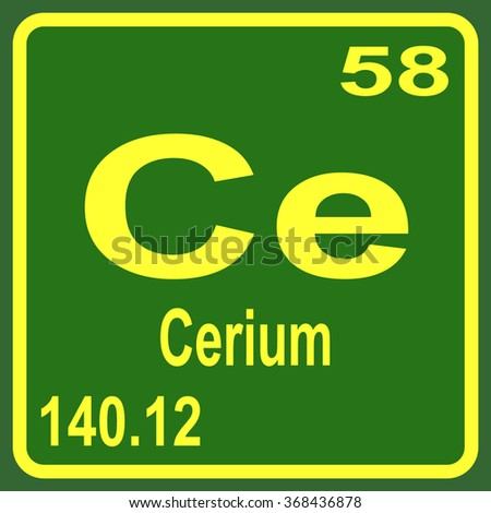 Periodic table elements cerium stock vector 368436878 shutterstock periodic table of elements cerium urtaz Image collections