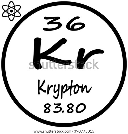 Periodic table elements krypton stock vector 390775015 shutterstock periodic table of elements krypton urtaz Choice Image