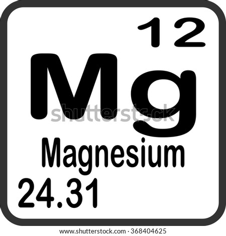 Periodic table elements magnesium stock vector 368404625 periodic table of elements magnesium urtaz Choice Image