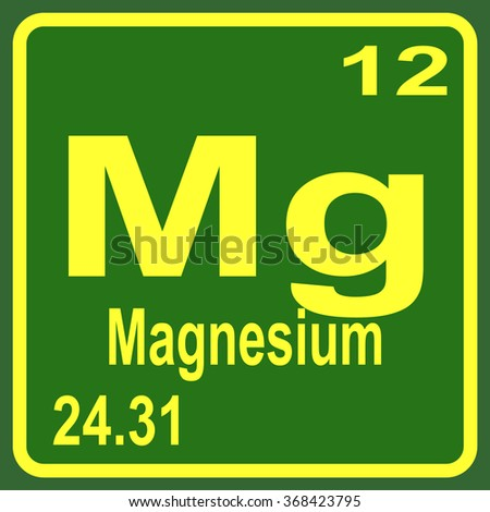 Periodic table elements magnesium stock vector 368423795 shutterstock periodic table of elements magnesium urtaz Images