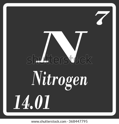 Periodic table elements nitrogen stock vector 368447795 shutterstock periodic table of elements nitrogen urtaz Image collections
