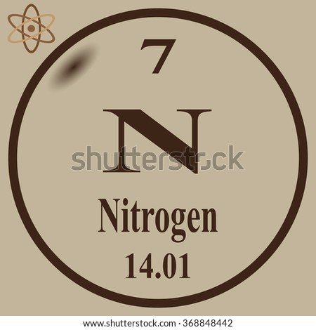Periodic Table of Elements - Nitrogen - stock vector