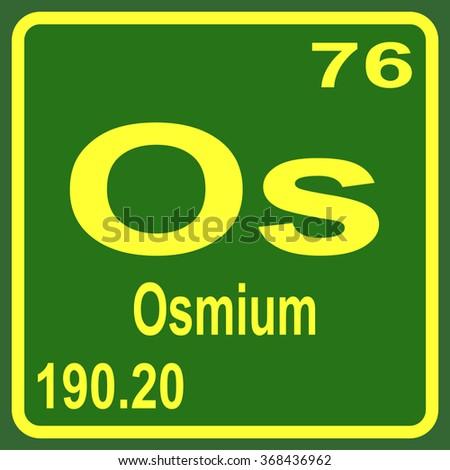 Periodic table elements osmium stock vector 368436962 shutterstock periodic table of elements osmium urtaz Choice Image