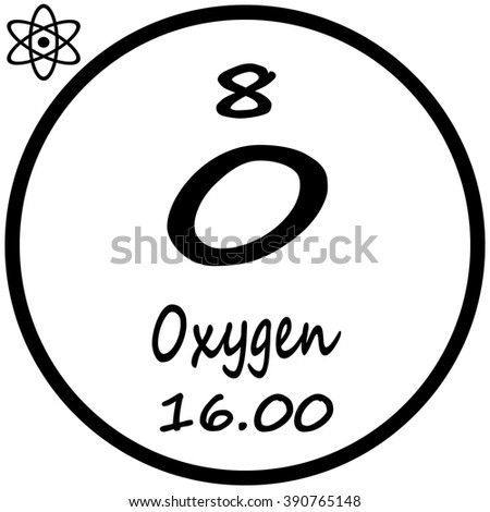 Periodic table elements oxygen stock photo photo vector periodic table of elements oxygen urtaz Choice Image