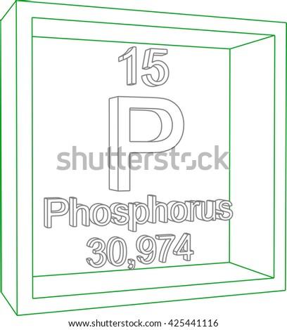 Periodic Table of Elements - Phosphorus - stock vector