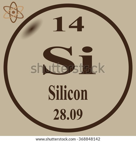 Periodic Table Elements Silicon Stock Vector 368848142 - Shutterstock