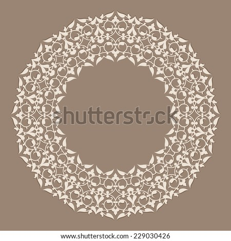 persian round pattern.vector  - stock vector